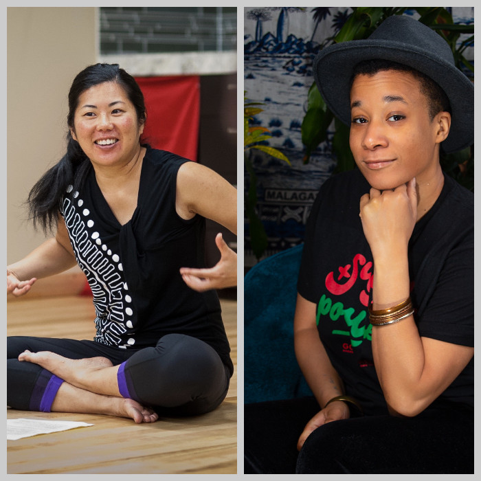 A diptych of Michelle Fujii (left) and RaShaunda Brooks, our 2021 Lilla Jewel Award winners